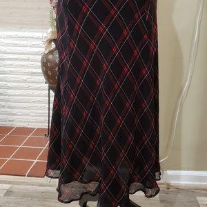 Beautiful Plaid Silk Skirt
